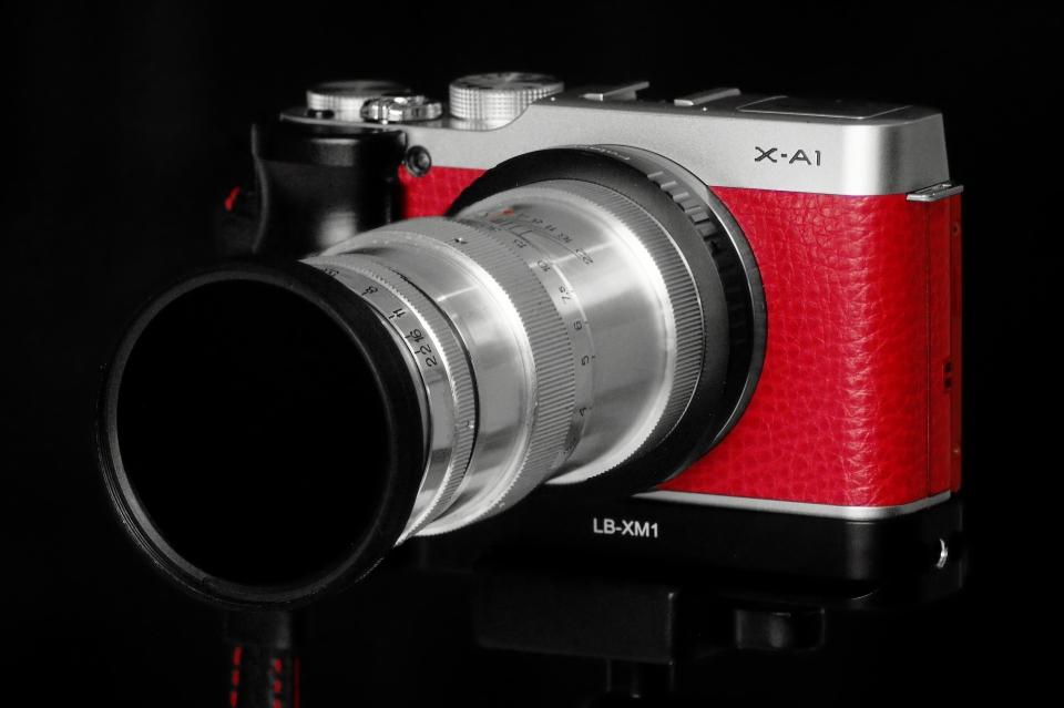 Fuji X-a1 with Jupiter-11 135mm, f4 and IR720nm filter 40.5-52mm adaptor, 52mm IR 720nm filter